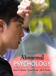 ABNORMAL  PSYCHOLOGY  2013 - روانپزشکی