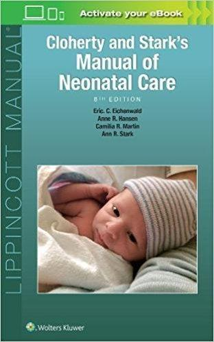 Cloherty and Starks Manual of Neonatal Care  2017 - اطفال