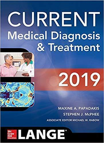 CURRENT MEDICAL DIGNOSIS & TREATMENT 2vol  2019 - داخلی