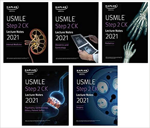 USMLE Step 2 CK Lecture Notes Kaplan 5 vol Kamel 2021+dvd - آزمون های امریکا Step 2