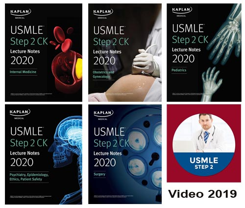 USMLE Step 2 CK Lecture Notes Kaplan 5 vol Kamel 2020+video - آزمون های امریکا Step 2