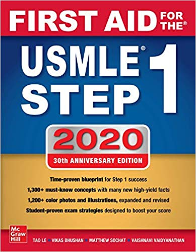 First Aid for the USMLE Step 1 + dvd 2020  Thirtieth edition