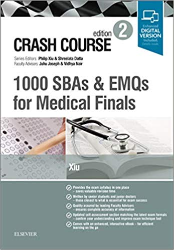 Crash Course: 1000 SBAs and EMQs for Medical Finals - داخلی
