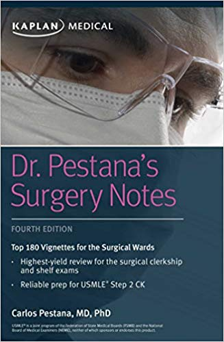 Dr. Pestana Surgery Notes- Top 180 Vignettes for the Surgical Wards 2018+ dvd - آزمون های امریکا Step 2
