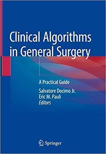 Clinical Algorithms in General Surgery: A Practical Guide  2019 - جراحی