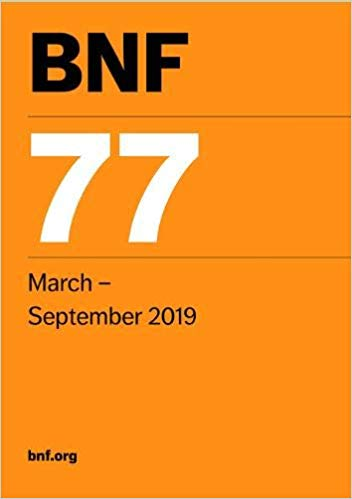 BNF 77 (British National Formulary) March 2019 - فارماکولوژی