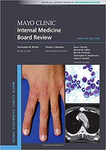 Mayo Clinic Internal Medicine Board Review + dvd  2020 - داخلی