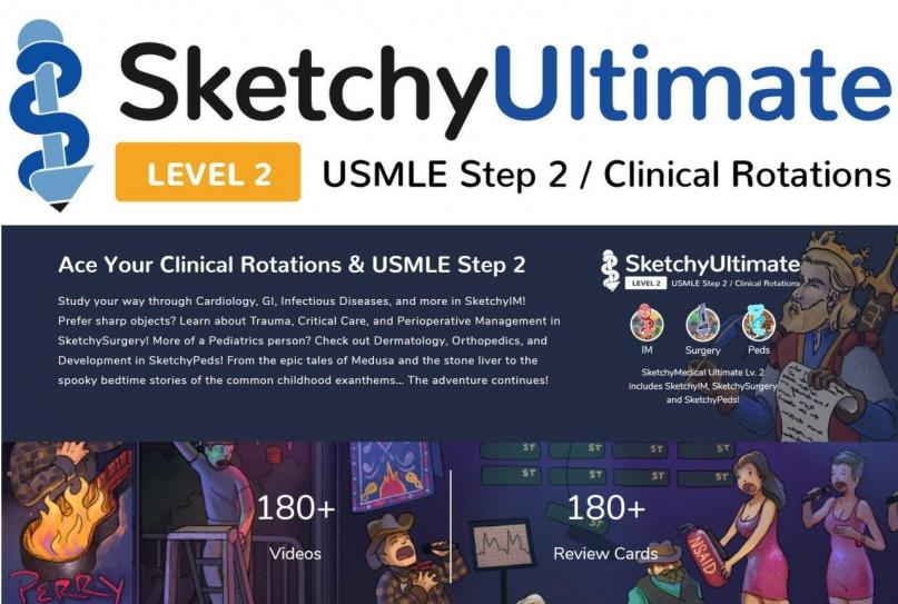 SKETCHY ULTIMATE USMLE STEP 2  2020 - آزمون های امریکا Step 2