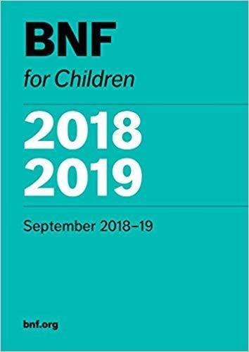 BNF for Children (BNFC) 2018-2019 - اطفال