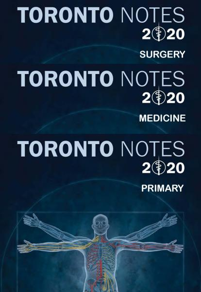 Toronto Notes 2020+ 3 vol 36th Edition