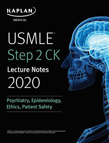 USMLE Step 2 CK Psychiatry, Epidemiology, Ethics, Patient Safety Lecture Notes 2020 - آزمون های امریکا Step 2
