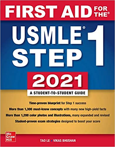 First Aid for the USMLE Step 1 2021, Thirty First Edition Full Color